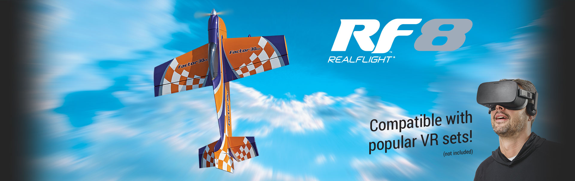RF8 RealFlight Compatible with popular VR Sets (not included)